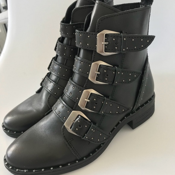 a7bbbb1a9c9 NWT! Steve Madden PURSUE BLACK LEATHER booties Boutique